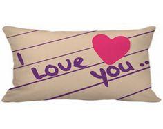 Capa Almofada 20x40 I Love You NM001