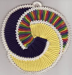 Picasso Potholder / Motif - Crochet Pattern via Ravelry #crochet_inspiration