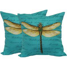 Mainstays Dragonfly Toss Pillow, 2-Pack - Walmart.com