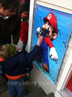 Everyday Treats - Blog - How To: Make an Easy Pin The Moustache on MarioGame