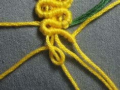 mimosa macrame 61- step by step photo tutorial