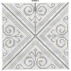 18 muestras de colchas tejidas a ganchillo ⋆ Crafts and DIY Crafts and DI . Granny Square Häkelanleitung, Granny Square Crochet Pattern, Crochet Diagram, Crochet Chart, Crochet Squares, Filet Crochet, Crochet Motif, Crochet Doilies, Crochet Granny