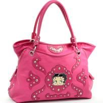 """FREE SHIPPING WITHIN THE CONTINENTAL USA  - Betty Boop® officially licensed - Leather like material - Dual shoulder straps drop length 8.5"""" - Top zippered main compartment - Inside zippered pocket and cellphone pouch - Back wall zippered pocket - A..."""