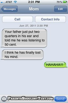 funny text messages from dad - Google Search
