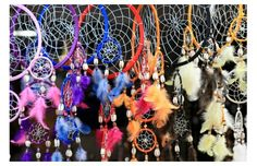 Beautiful colorful dreamcatchers