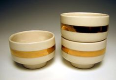 gold lined cups by andy brayman