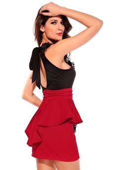VESTIDO ROJO Y NEGRO Colores: Negro, Rojo Talla:  36-S, 38-M, 40-L, 42-XL Precio: 24.99 www.cocoylola.es #cocoylola #moda #vestidos #tiendaonline #shop #españa