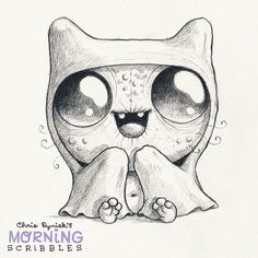This one is about my girlfriend: Always cold. Always under a blanket. #morningscribbles