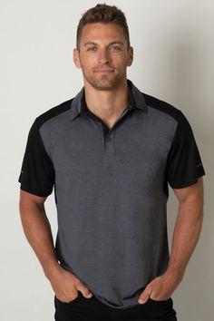 7f3faa814 Mens Heather Contrast Polo - The Uniform Guys. Uniforms & Work Wear Shop  Online Australia
