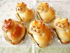 Kitty shaped bread X3
