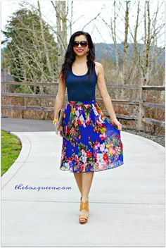SKIES ARE BLUE Gwyneth Pleated Flare Skirt | Stitch Fix February 2017 Review | $350 Stitch Fix Gift Card Giveaway | Stitch Fix Reviews | Stitch Fix Outfits | Stitch Fix Style