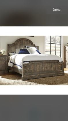 Farmhouse bed from Wayfair
