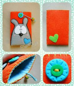 Felt Phone Cases, Felt Case, Felt Pouch, Fabric Crafts, Sewing Crafts, Sewing Projects, Felt Bookmark, Felt Gifts, Felt Decorations