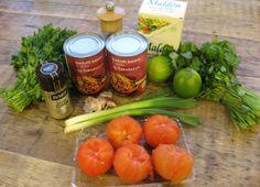 Ingredients for homemade pinto bean diphttp://theproofofthepudding.net/2014/03/21/guacamole-and-pinto-bean-dip/
