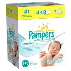 Amazon.com: Pampers Sensitive Wipes 7x Box 448 Count: Health & Personal Care