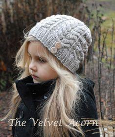 KNITTING PATTERN-The Serenity Hat Toddler Child por Thevelvetacorn