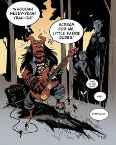 Teen Hellboy by Matt Smith Character Drawing, Comic Character, Hellboy Tattoo, Mike Mignola Art, Pulp, Comic Styles, Batman Comics, Comic Page, Book Cover Art