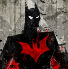 Beyond Batman; Batman rorschach test. Art by Halo Sama 11x17 print. FREE shipping Each print comes hand signed from the artist!