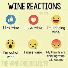 Wine reactions #WineWednesday #WineQuotes