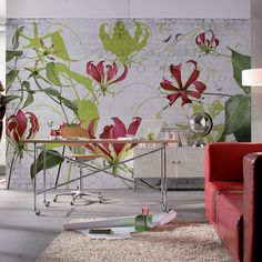 Brewster Home Fashions Komar Gloriosa 8-Panel Wall Mural & Reviews | Wayfair