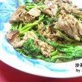 台湾家庭料理 牛肉&空心菜の沙茶醤炒め