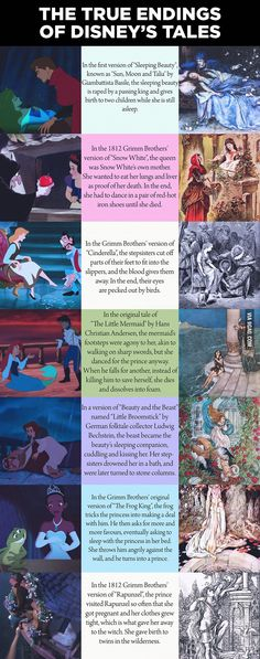 "Yes. I've read most of these stories from the Grim Fairy tales... and the real endings does not say that ""and they live happily ever after"""