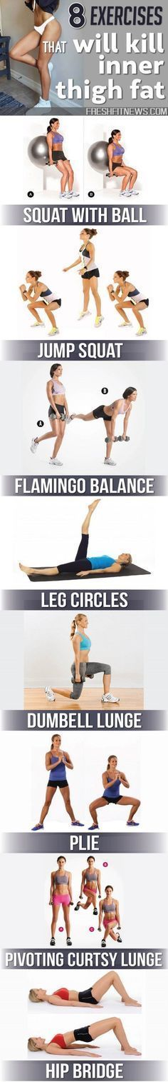 Best at home workouts to kill your inner thigh fat www.liveinfinitel...