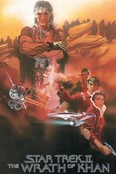Star Trek II: The Wrath of Khan (1982)  Directed by Nicholas Meyer.  With William Shatner, Leonard Nimoy, DeForest Kelley, James Doohan. With the assistance of the Enterprise crew, Admiral Kirk must stop an old nemesis, Khan Noonien Singh, from using his son's life-generating device, the Genesis Device, as the ultimate weapon.