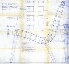 Blueprint for the 650 Line Lounge Chair designed by Jens Risom, c. 1943 | PC: Knoll Archive | Knoll Inspiration