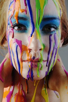 """Kids mix paints from ELC"" flicker. So could use paint if model is willing to put paint on face? Rainbow Painting, Drip Painting, Woman Painting, Body Painting, Portrait Photography Men, Paint Photography, Creative Photography, Paint Splash, Color Splash"