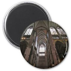 Cologne Cathedral - Arches Inside Refrigerator Magnets #sold on #zazzle