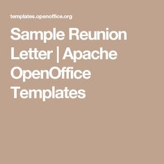 The 25 best letter samples images on pinterest apache openoffice sample reunion letter apache openoffice templates cheaphphosting Image collections