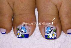Pedicure Designs, Toe Nail Designs, Bolo Flash, Nail Salon Design, My Life Style, Nail Decorations, Manicure And Pedicure, Toe Nails, Nail Art