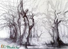 Tölgyes (Levay61) - Meska.hu Tolkien, Techno, Snow, Abstract, Artwork, Painting, Outdoor, Summary, Outdoors