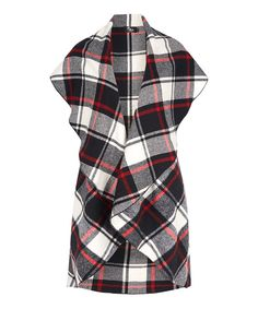 Look at this Black & White Plaid Duster on #zulily today!