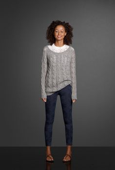 This seasons hottest jeggings come in the prettiest colors and prints. Toss on your favorite pair and layer on an easy fit sweater over a cute chiffon top. Finish your look with the scent of Perfume No. 1.
