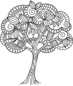 Embroidery Designs Patterns Delicate Tree this is a machine embroidery pattern - I could envision something like this in ink. Like a Zentangle. Lots of other tree patterns available here as well. Quilling Patterns, Zentangle Patterns, Zentangles, Embroidery Patterns, Machine Embroidery, Hand Embroidery, Embroidery Tattoo, Embroidery Stitches, Colouring Pages