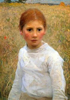 "George Clausen  ""Brown eyes"""