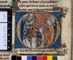 Arthur taking the sword from the stone, Huth Manuscript, Northern France, 1310 Library Catalog, Medieval Art, British Library, Illuminated Manuscript, Renaissance, Vintage World Maps, Crafty, Sword, France