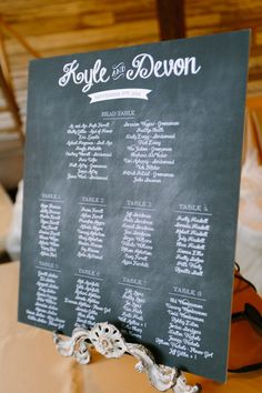 Chalkboard Style Seating Plan