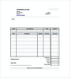 Contractor Invoice  Basic Invoice Template And General Writing