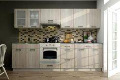 Küchenblock Monika 2,6m Die hervorragende Trendküche Monika zu einem günstigen Preis!  Die hochwertigen 16 mm Fronten in 2 verschiedenen zeichnen die Küche aus und schenken dem Raum einen Charme. In eine Breite von 260 cm wurde sehr viel Stauraum eingebracht wodurch sich diese Küchenzeile sowohl für Singles als auch für Familien eignet.  Als Vorteil zählen auch die 18 mm Laminat Korpusse mit ABS Kanten und die 28 mm starke Arbeitsplatte in verschiedenen Farben. Kitchen Cabinets, Home Decor, Glamour, Counter Top, Closet Storage, Families, Kitchen Cupboards, Homemade Home Decor, Decoration Home