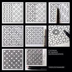 "76 Likes, 7 Comments - Zentangle Art Meditation (@zentangle.patterns) on Instagram: ""* Ciceron by Mariet Lustehouwer @vasilisinamari . . #arttherapy #zentangle #zentangleart…"""