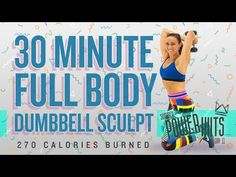 45 Minute Full Body Strength and Conditioning Workout 🔥Burn 520 Calories! Interval Training Workouts, 20 Minute Workout, Dumbbell Workout, High Intensity Interval Training, Hiit, Bed Workout, Dumbbell Exercises, Boxing Workout, Cardio