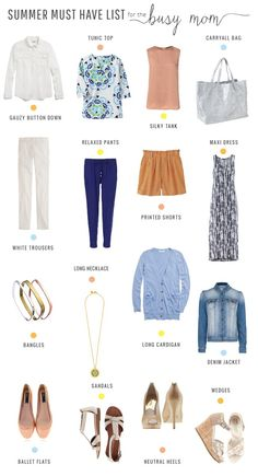 Busy Mom's Summer Must Have list