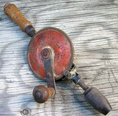 Vintage Hand Crank Drill | Industrial Salvage | Rustic Decor | #202