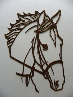 Horse head DXF file for your CNC laser plasma от ArcInnovations