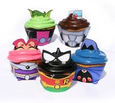 Resultado de imagen para teen titans go cup cakes