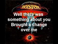 Boston something about you lyrics