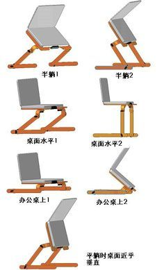 Wholesale Wooden Laptop Bed Stand Desk table for Notebook All ...